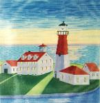 Anne Cram A-836 Point Judith Lighthouse 14 Mesh