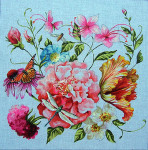 FF298 Colors of PraiseFloral/Dragonfly 15x15  18M