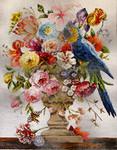 FF183 Parrot/ Floral 14x18  13M Colors of Praise