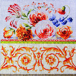 FF262 Tulip/Roses 12x12 13 Mesh Colors of Praise