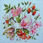 FF299 Floral/Bumble Bees 15x15 18M Colors of Praise