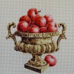 FF132 Apples in Vase 16x16 13M Colors of Praise