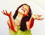 PE101 Praise Girl 14x18  13M Colors of Praise