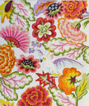 FF302 Flowers w/Bird-spread 17x20 13M Colors of Praise