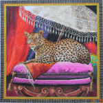 AN119 Colors of Praise Leopard under Parasol 15 x 15  18M