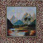 MC234 Landscape/Leopard Border 14x14  13M Colors of Praise