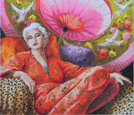 PE110 Lady under Umbrella 14 x 12   13M Colors of Praise