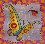 MC411 Whimsy Yellow Butterfly  8x8  13M Colors of Praise