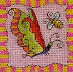 MC412 Whimsy Green Butterfly   8x8  13M Colors of Praise