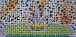 BR116  Colors of Praise Fleur-di-lis / Crown 8.5 x 4   13M