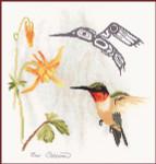 Stitching Studio, The Sue Coleman HUMMINGBIRD includes 1/2 and 3/4 stitche