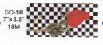 SC-18 Rose On Checker Sophia Designs Eyeglass Case