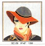 SC-29 Lady Grey Hat Sophia Designs