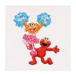 "GOK768A Thea Gouverneur Kit Sesame Street Dancing 12"" x 11""; Aida; 16ct"