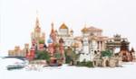 """GOK510A Thea Gouverneur Kit Moscow 32"""" x 20""""; Aida White; 18ct"""
