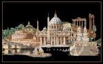 """GOK499B Thea Gouverneur Kit Rome 32"""" x 20""""; Aida; 18ct"""