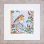 "PN145541 Lanarte Kit Proud Robin 7"" x 7""; Linen; 27ct"