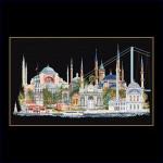 "GOK479B Thea Gouverneur Kit Istanbul 32"" x 20""; Aida Black; 18ct"