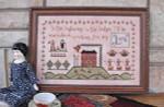 Annie Beez Folk Art Cross Stitch Pattern Highways And Hedges