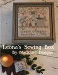 14-2692 Leona's Sewing Box Top: 90w x 93h, Pinkeep: 39w x 33h Blackbird Designs