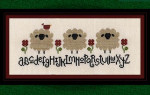 Carousel Charts Counted Cross Stitch Pattern Spring Sheep Alphabet