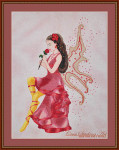 Cross Stitching Art Rose Fairy