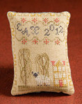 12-1176 Yellow House Pincushion 60 x 80 Dames Of The Needle