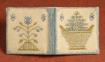 12-1177 Blue Flower Needle Book 119W x 62H by Dames Of The Needle