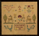 10-1302 Adam & Eve Sampler 120 x 100 by Dames Of The Needle