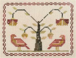 11-1463 Eliza's Bird Sampler 83w x 66h Dames of the Needles