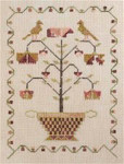 11-1464 Eliza's Tree Sampler 98w x 140h Dames of the Needle