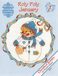 02-1159 Roly Polys-January (Cherished Teddies) by Designs By Gloria & Pat