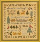 Antique Evergreen Sampler Elizabeth's Designs