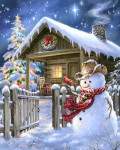 12-1706 Christmas Cottage by Heaven And Earth Designs 450w x 562h