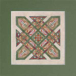 09-2452 INK-C013 CELTIC QUILTS: KENTUCKY CHAIN (CS) 93 x 93 Ink Circles