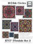 14-2180 INK-M023 RYO - MANDALA SET 3 (CS) Large: 115 x 155, Small: 63 x 63 Ink Circles