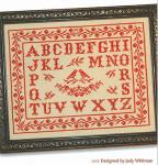 11-1920 Birds & Berries Antique Alphabet by JBW Designs 132w x 100h