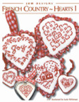 11-2136 French Country Hearts I #1 Noel House: 35w x 29h, Joy: 37w x 34h, Scalloped Heart: 33w x 31h JBW Designs