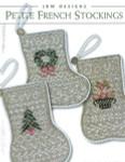 12-2641 Petite French Stockings by JBW Designs Wreath: 39w x 54h, Tree: 41w x 54h, Fruit Basket: 41w x 54h -