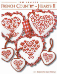 11-2137 French Country Hearts II #1 Scandavian Hearts: 33w x 31h, Noel Letters: 35w x 31h, Reindeer with Bow: 33 x 33 JBW Designs