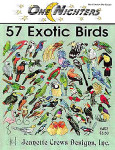 97-1597 57 Exotic Birds by Jeanette Crews Designs