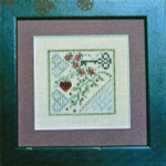 11-2352 Five Ladybugs 35 x 35 Jeannette Douglas Designs