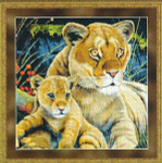 08-2366 Lioness And Cub by Kustom Krafts