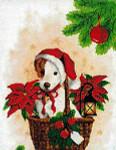 09-1706 Puppy Santa Artwork by Jessica Borjesson 154 X 203 Kustom Krafts
