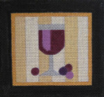 CT4 RED WINE 4 1/2 x 4 3/8 18 Mesh Raymond Crawford Designs