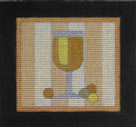 CT6 WHITE WINE 4 1/2 x 4 3/8 18 Mesh Raymond Crawford Designs