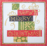 HO117 A VERY MERRY CHRISTMAS 6.5 x 6.5 Raymond Crawford Designs