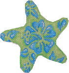CT-1761BL Blue/Lime Hibiscus Starfish Ornament Associated Talents