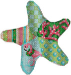 CT-1752 Flamingo Patch Starfish Ornament Associated Talents