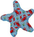 CT-1756R Red Crabs Starfish Ornament Associated Talents